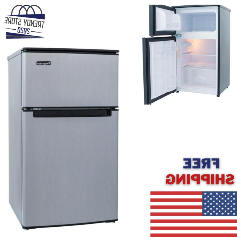 3 1 cu ft stainless mini fridge