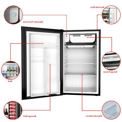 3.2 Cu.Ft. Compact Refrigerator Mini Dorm Small Freezer Door