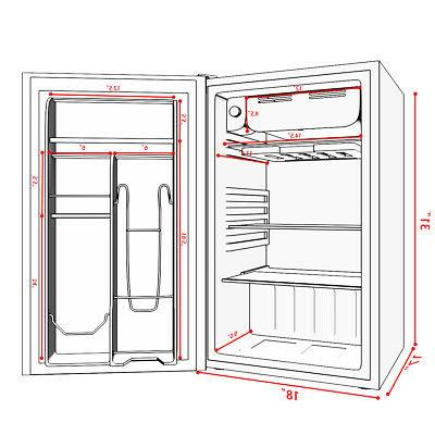 3.2 Cu.Ft. Refrigerator Mini Freezer Door