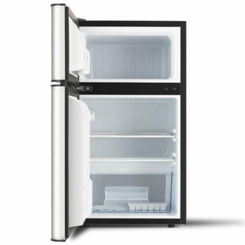 KUPPET Stainless Steel Door Mini Freezer