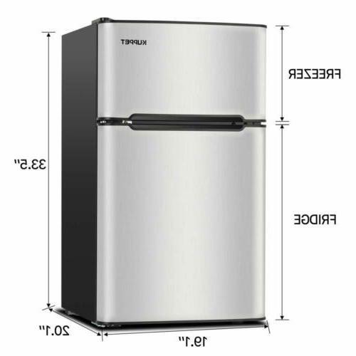 KUPPET Stainless Door Freezer Fridge