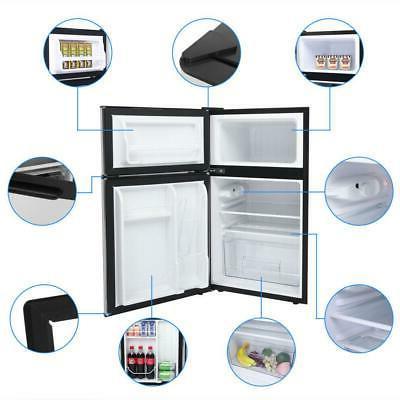 3.2 Cu Steel Mini Refrigerator Freezer Cooler Fridge Compact