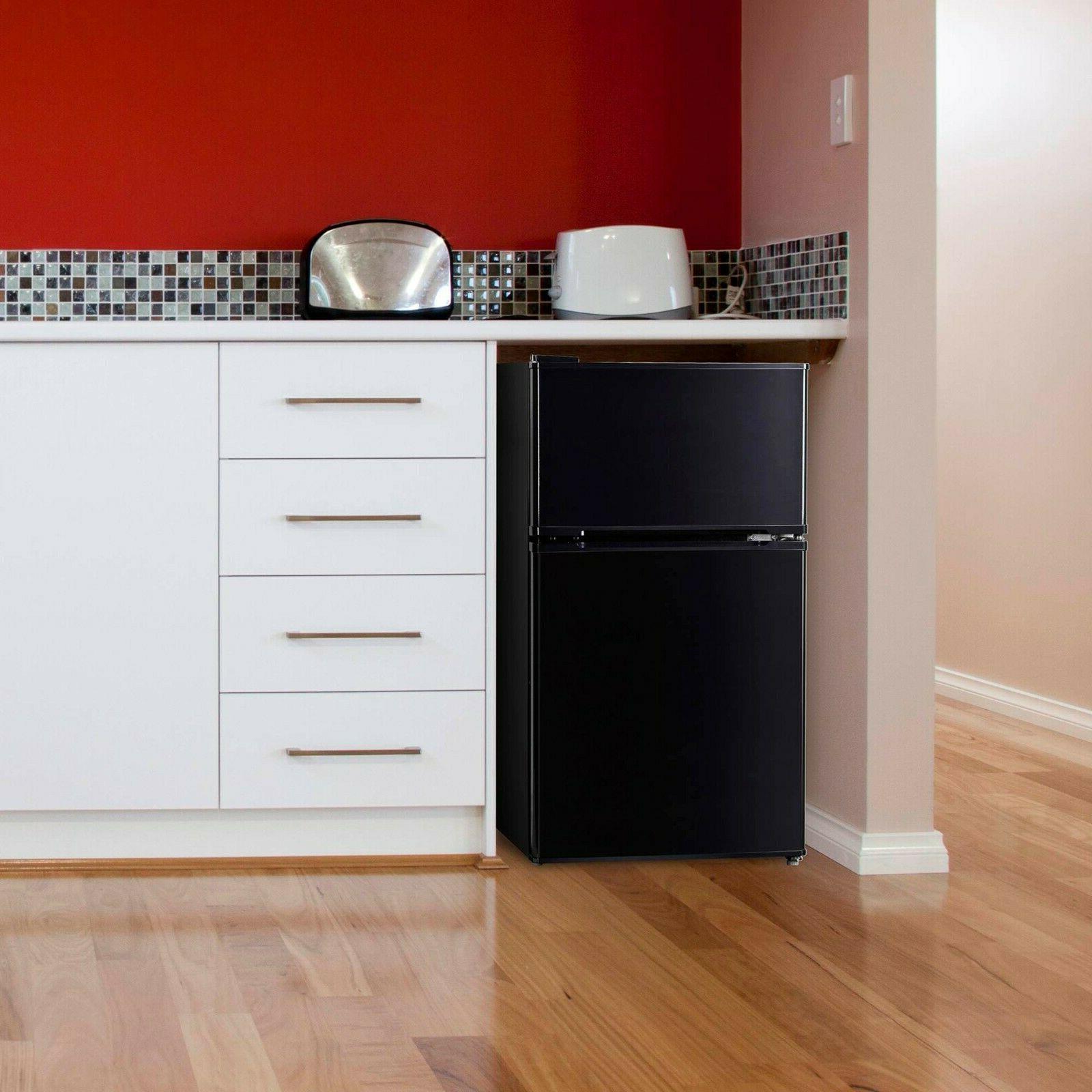 3.2 Cu Mini Refrigerator Freezer 2-Door Compact Home Office New