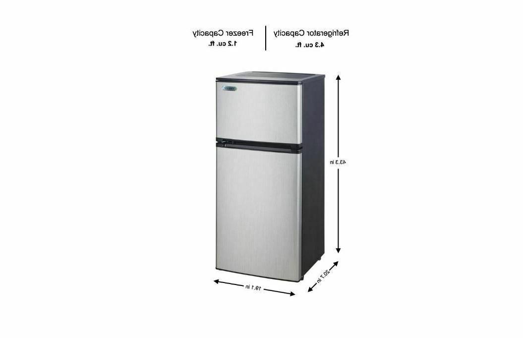 4.3 Fridge Freezer Stainless Steal