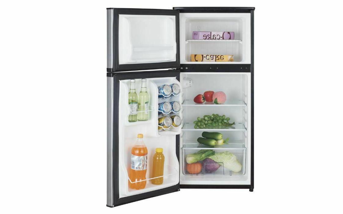 4.3 Cu Fridge 2 Door Stainless Small Refrigerator