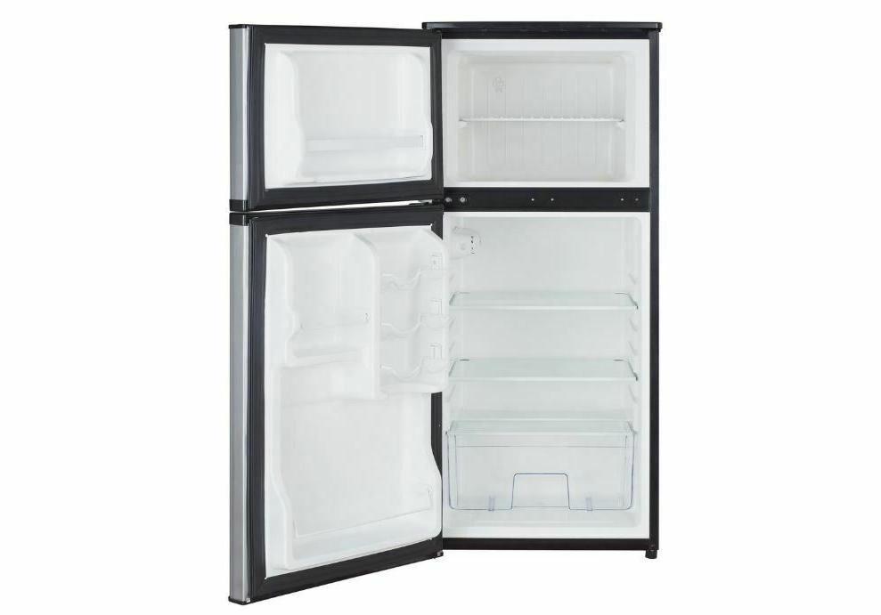4.3 Ft Mini Fridge Freezer Door Stainless Steal Small Refrigerator