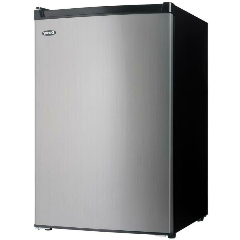 4.5 Cu. Ft. Mini Fridge With Freezer Section In Black/Stainl