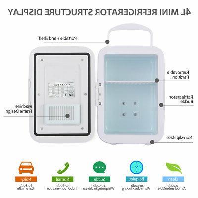 Dual Use Fridge Small Refrigerator 4L Single Compact Car