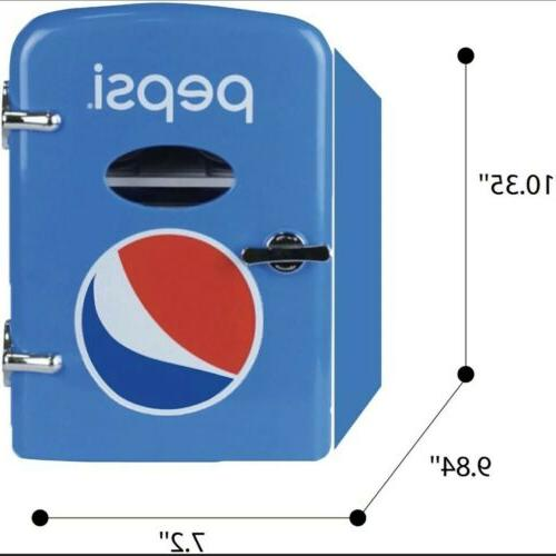 Pepsi 6 Can Mini Refrigerator 120V and