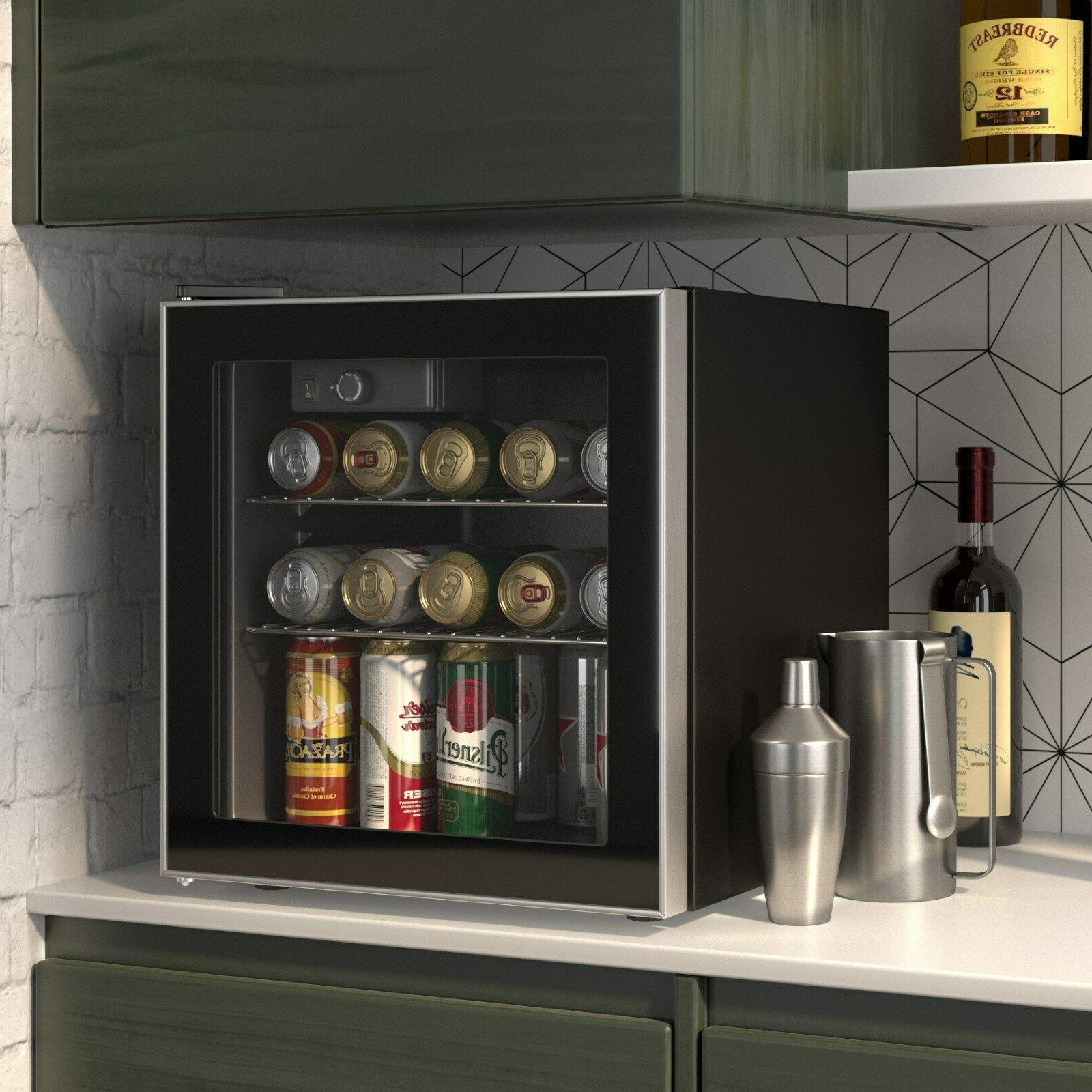 60 can beverage mini refrigerator wine cooler