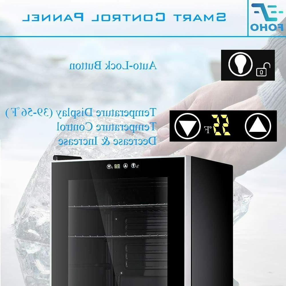 Beverage Refrigerator 85 Can Bottle Glass