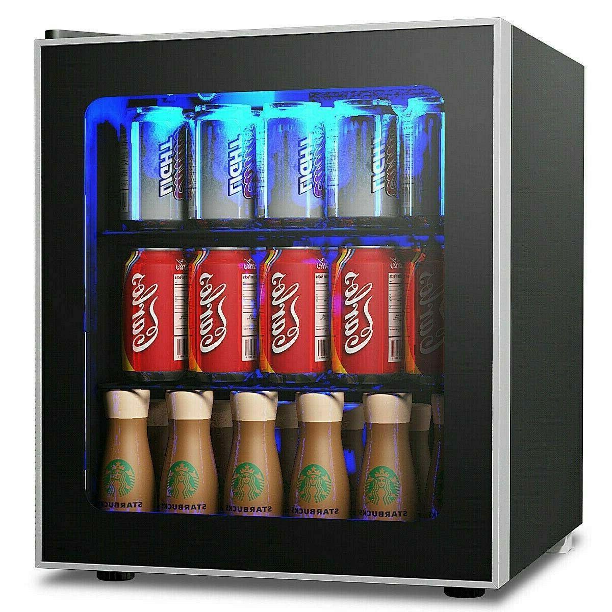 chic new mini fridge 60 cans adjustable