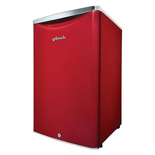 Danby Cubic Compact Sized Beverage Refrigerator, Red