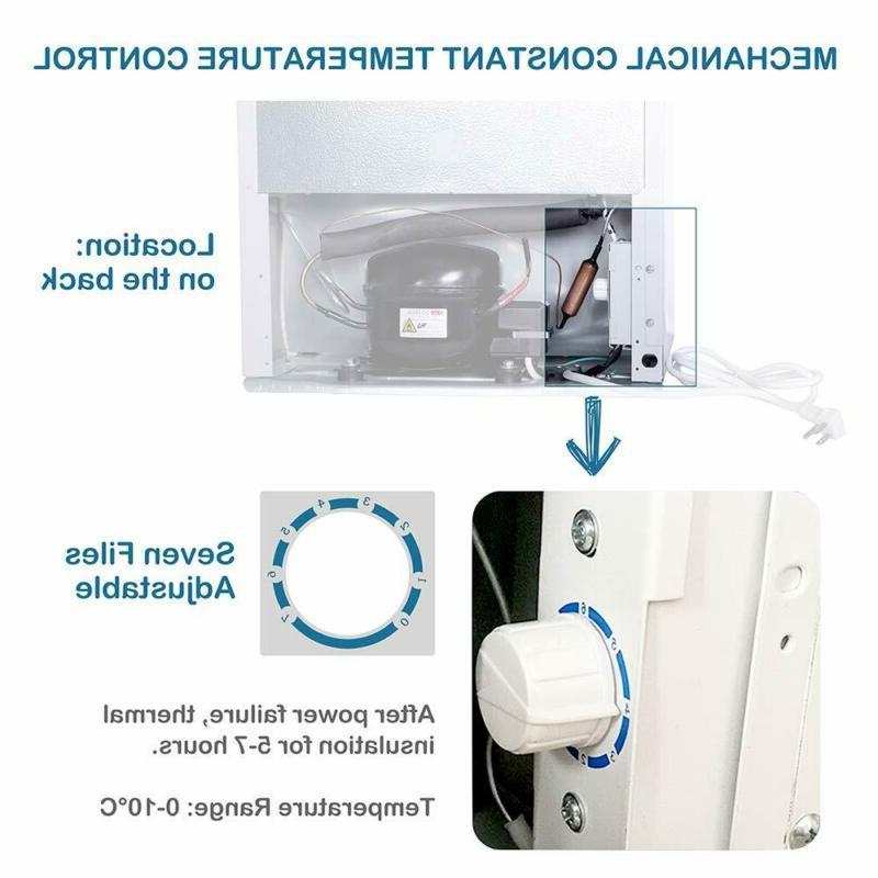 Northair cu Mini Fridge Freezer with Single Re