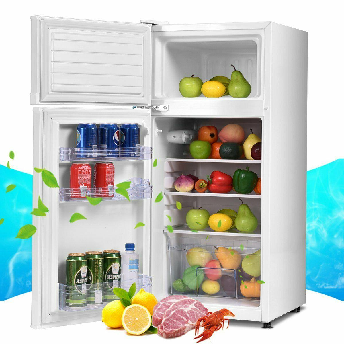 compact mini fridge freezer cooler removeable glass shelves