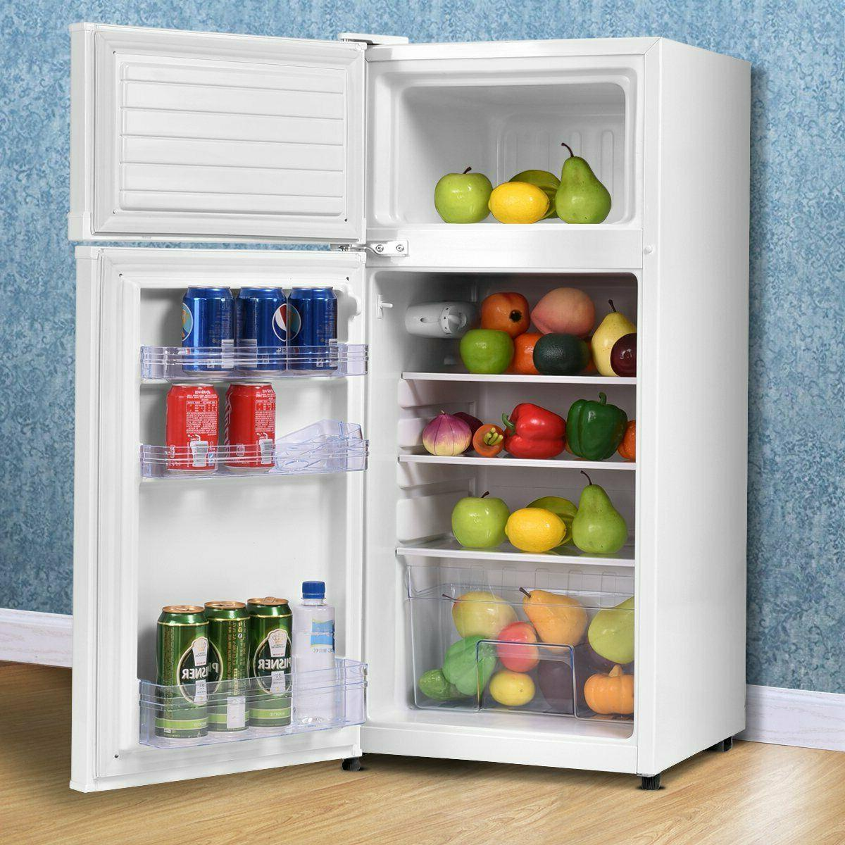 compact refrigerator fridge freezer shelves