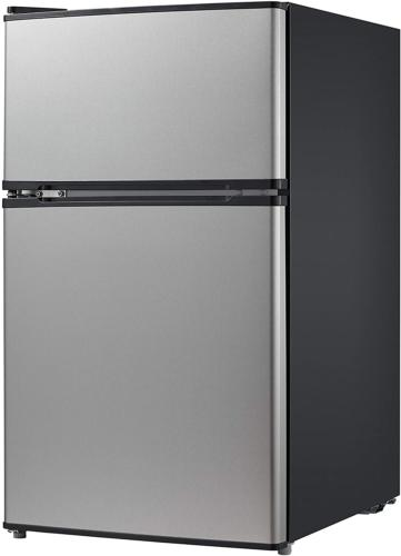 Compact Refrigerator W/Freezer Cu.Ft. Stainless Steel Star