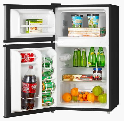 Compact Refrigerator W/Freezer Cu.Ft. Stainless Star Efficiency