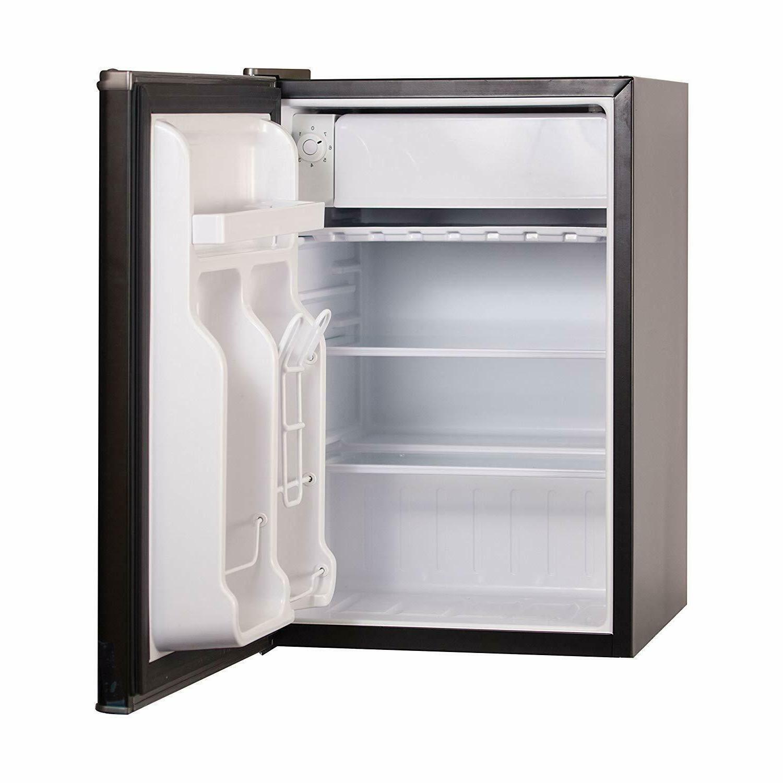 Compact Refrigerator Energy Single Door Mini w/ 2.5 CF Black