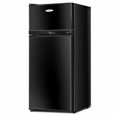 Double Doors Compact Mini Refrigerator 3.4 cu ft. Freezer Co