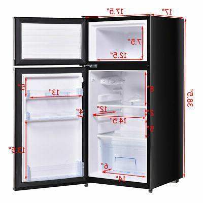 Refrigerator 3.4 Freezer Cooler Fridge for Dorm
