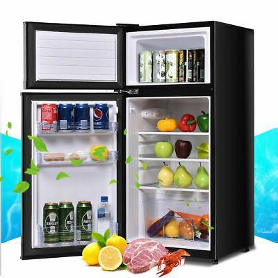 Double Doors Refrigerator ft. Freezer Fridge Dorm