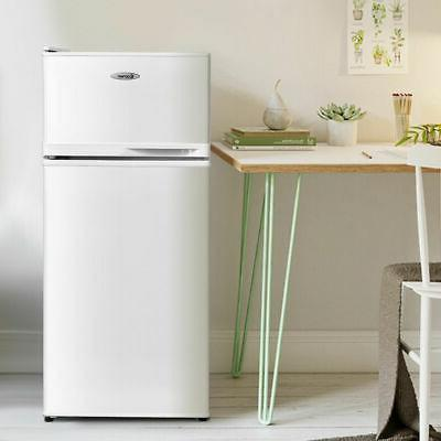Double Doors ft. Compact Mini Refrigerator Freezer Cooler Fridge