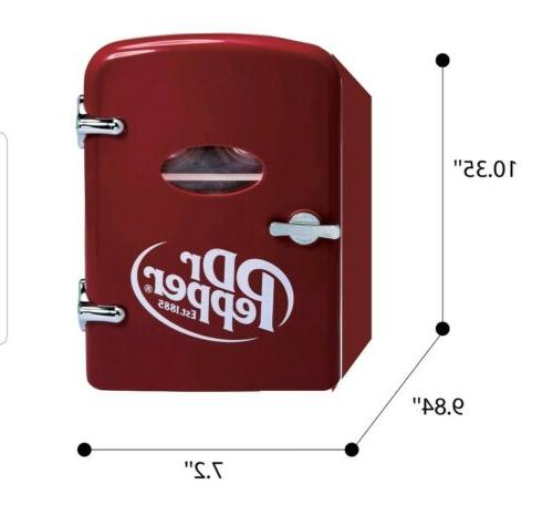 DR.PEPPER fridge/cooler thermoelectric. holds upto 6 cans NEW