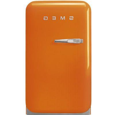 fab5uro 50s retro style mini refrigerator orange