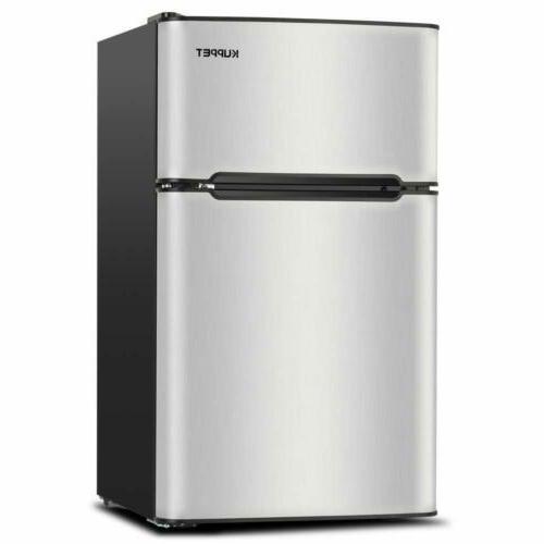 3.2 Cu Ft Compact Refrigerator 2-Door Small Mini Fridge Top