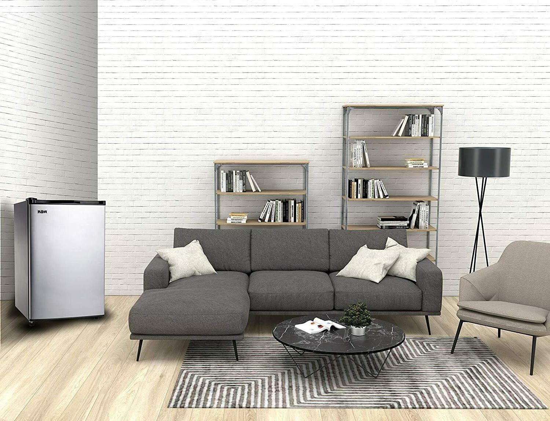 Sleek Platinum Stainless 3.2 Cu Ft Door Freezer