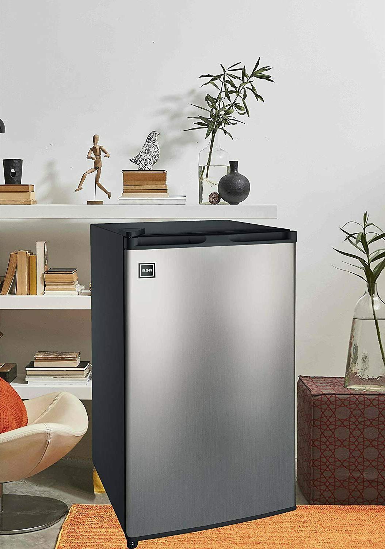 Sleek Platinum 3.2 Cu Single Door Fridge with Freezer