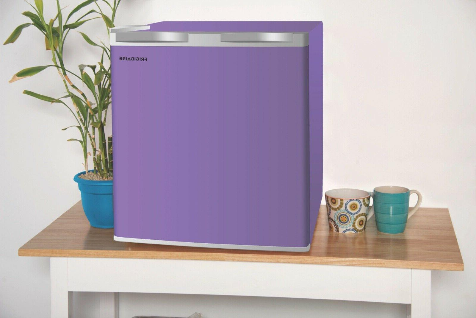 Mini Fridge Purple Single Small Dorm Office Single 4 Compact Cooler