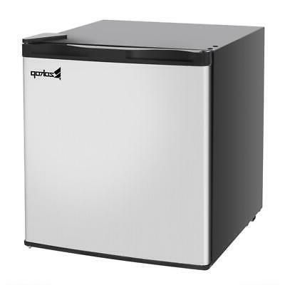 mini fridge small cabinet freezer stainless steel