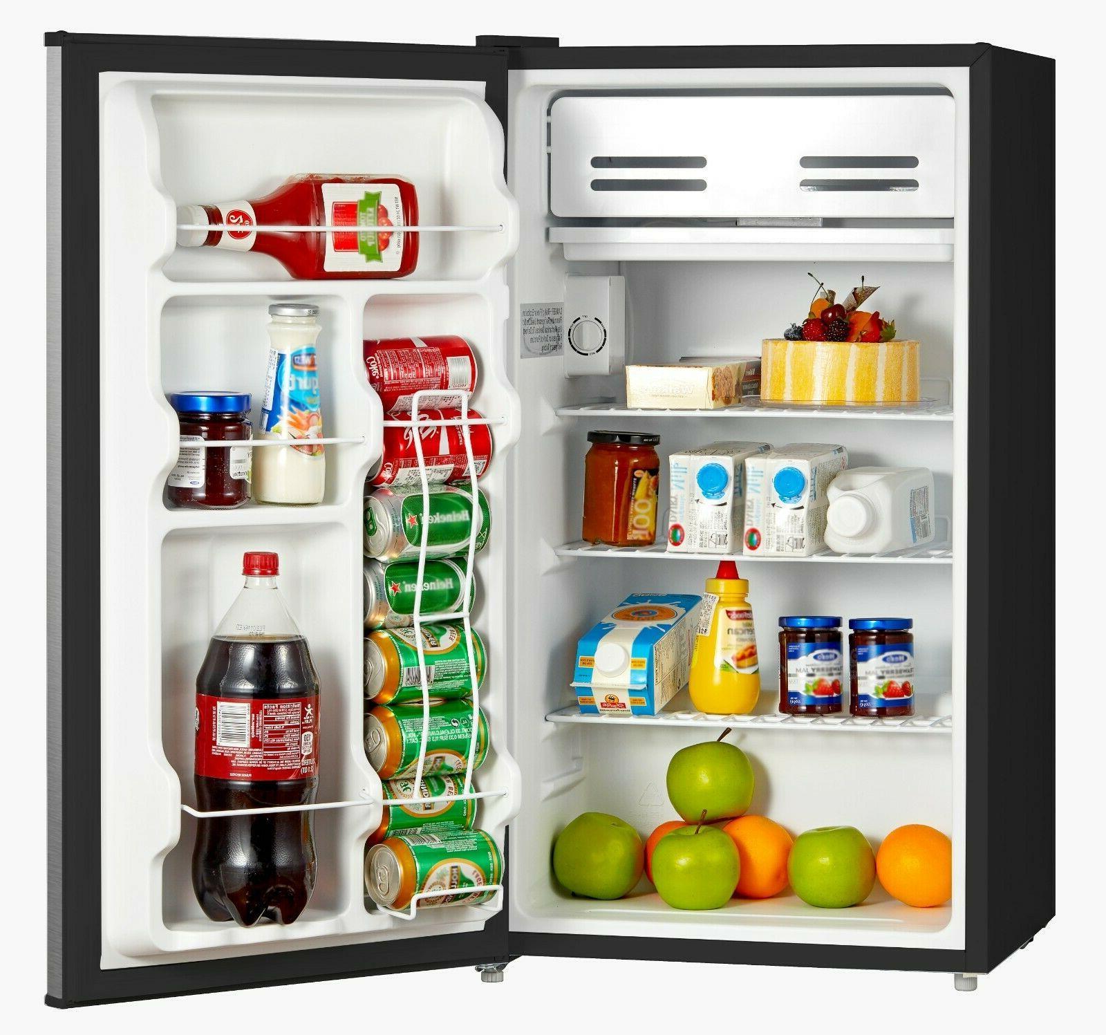 Mini Fridge Refrigerator Door Cu.ft Stainless