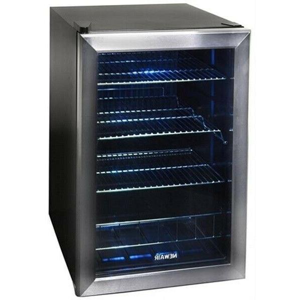 Mini Fridge w/ Door Standing Beverage Cooler - FREE