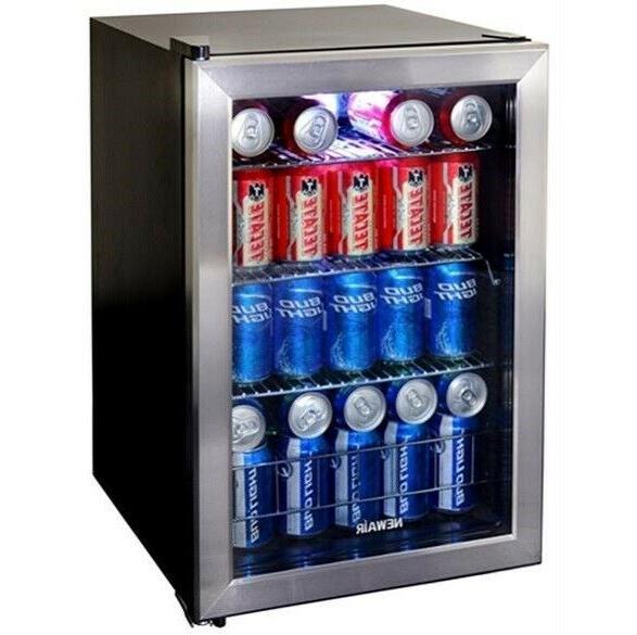 mini fridge w glass door 84 can