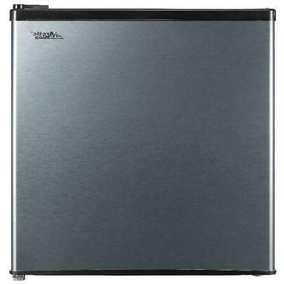 Mini Refrigerator 2.4 Cu Ft Stainless Single Door Small Frid