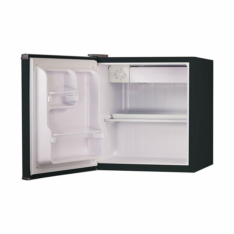 Black Mini Refrigerator Dorm Office Countertop