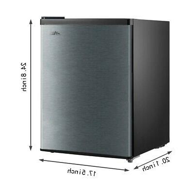 2.4 Cu Ft Mini Fridge Small Refrigerator Chiller Cooler Freezer,