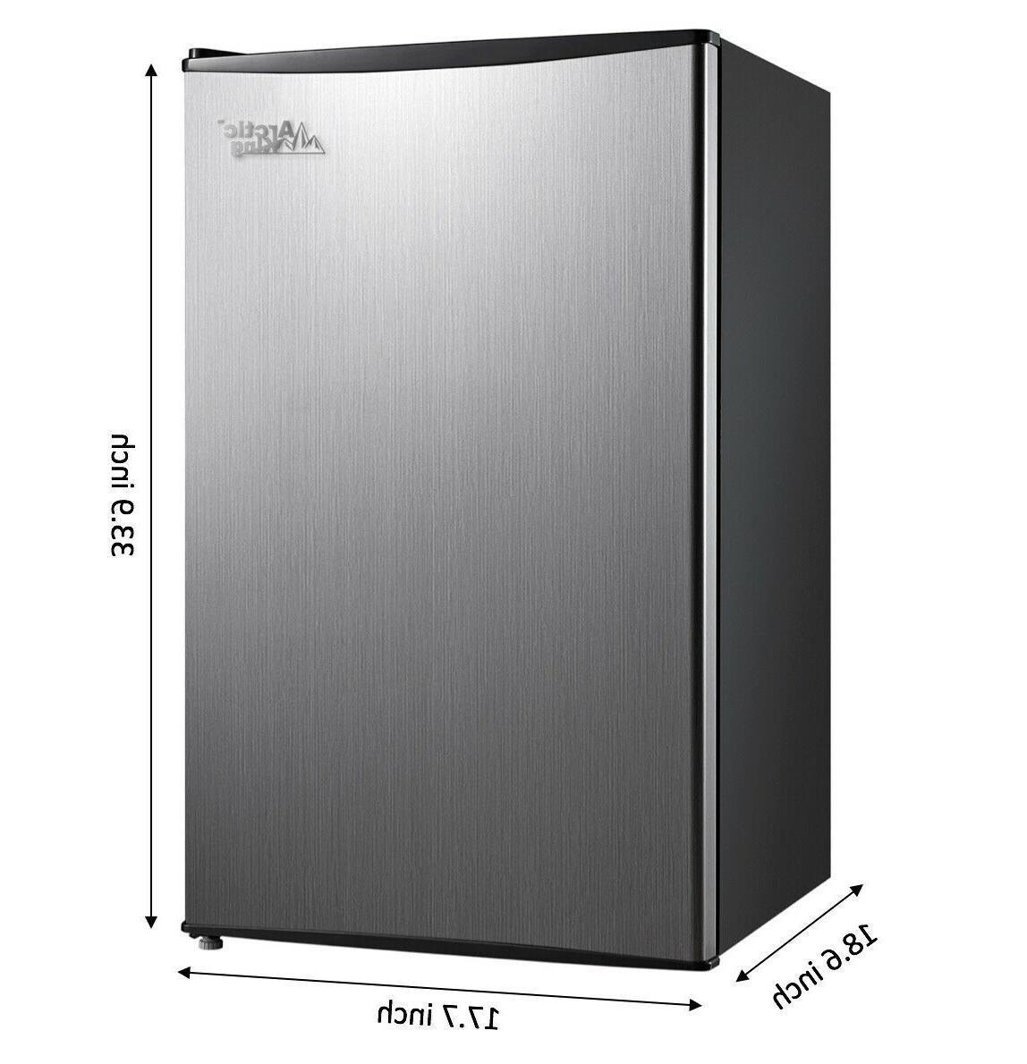 Mini Fridge Refrigerator Door 3.3 Cu.ft Stainless