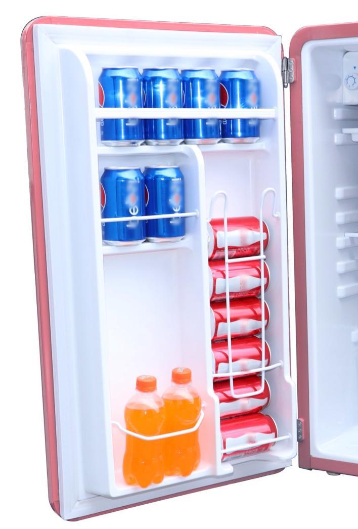 New Pink 3.2 Cu. Ft. Mini Compact Dorm Office Freezer