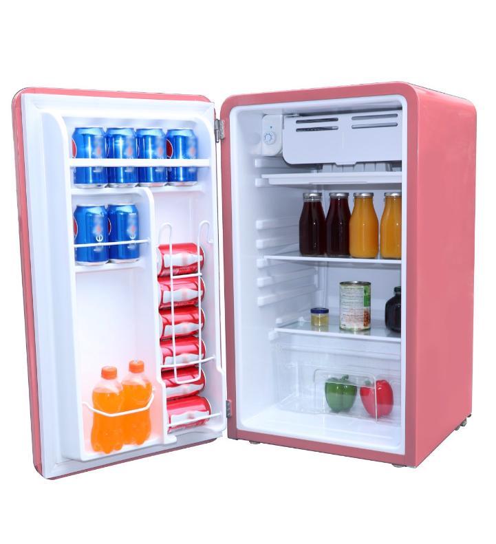 New Pink Cu. Ft. Retro Fridge Compact Dorm Freezer