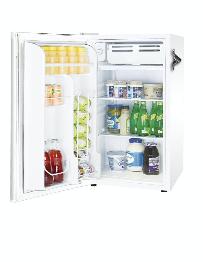 New White Ft. Mini Fridge Small Dorm Refrigerators Cooler