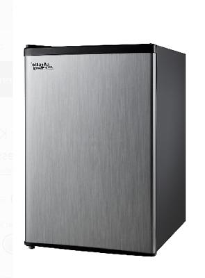 Mini Refrigerator 2.4Cu Ft Manual Defrost Stainless