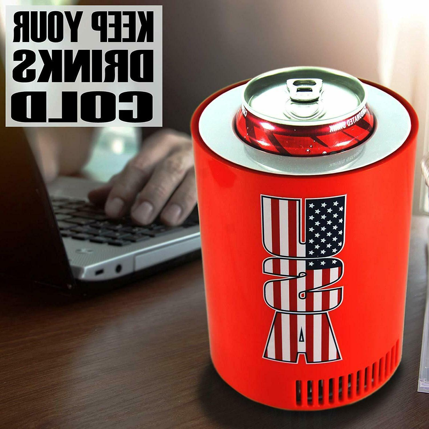 Guay USB Desk Fridge USA Beverage Chiller and Office