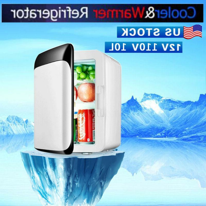 110V 12V 10L Portable Mini Fridge Freezer Cooler Refrigerato