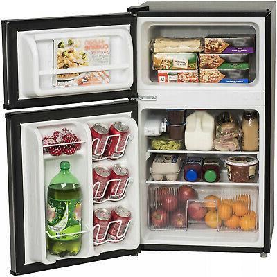 3.2 Ft Fridge Mini Refrigerator 2-Door Compact New