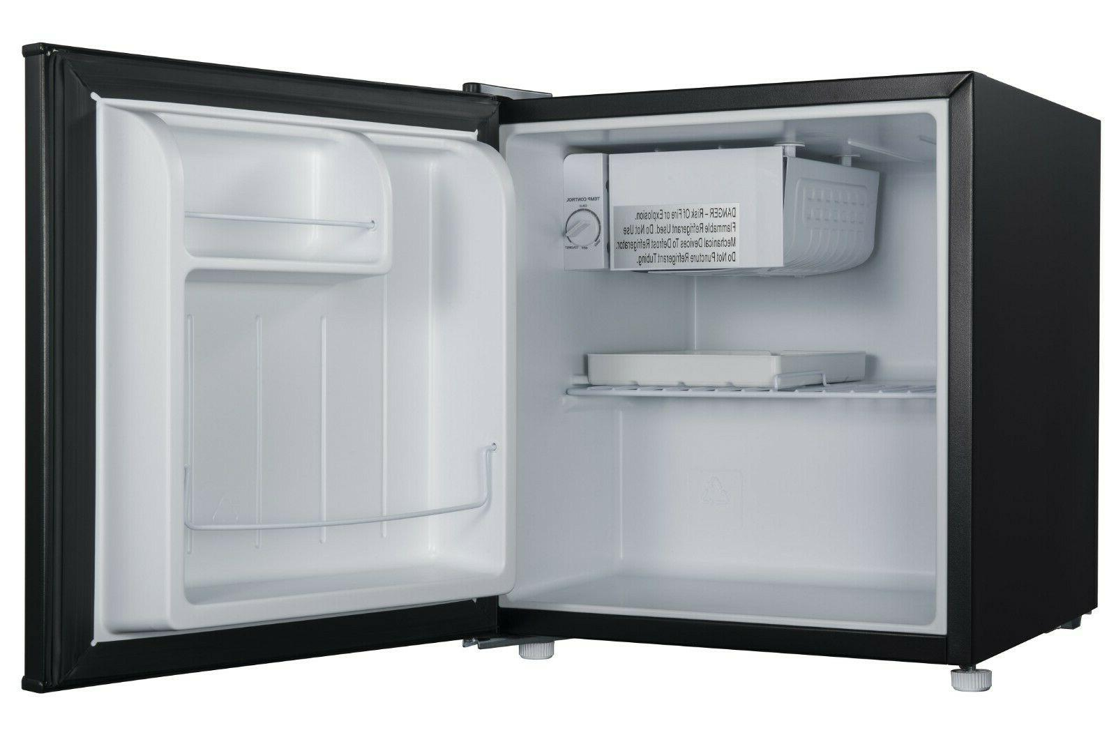 Single Mini Fridge compact shelf freeze cooler Black