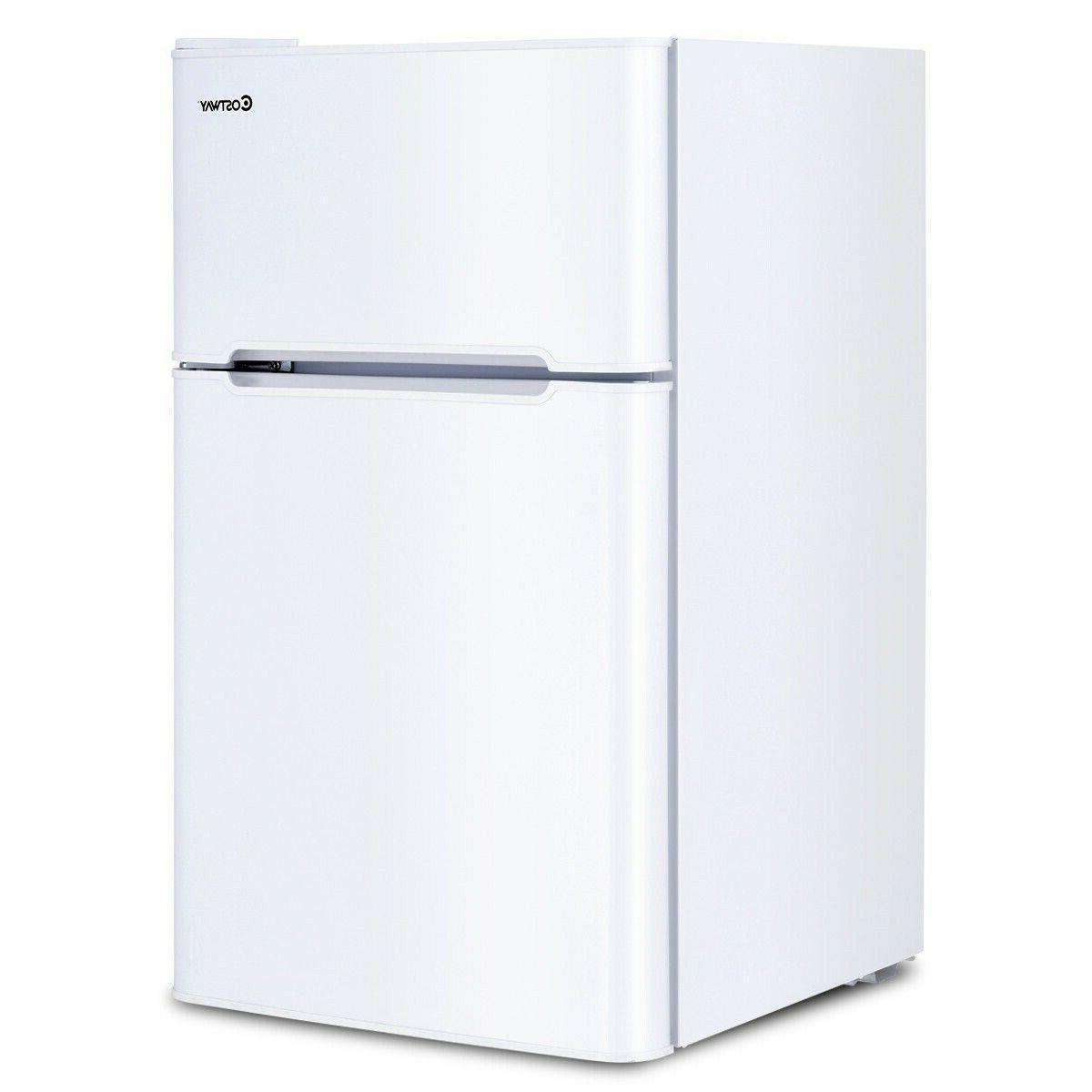 White Small Compact Refrigerators Mini Apartment 3.2cu